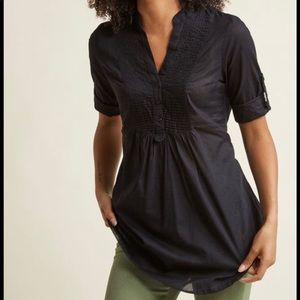 🐈 ModCloth Back Road Ramble Cotton Tunic Black